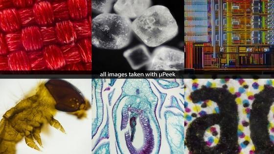 Dank raffinierter Beleuchtung ist neben der Hellfeld- und Dunkelfeldmikroskopie sogar die Fluoreszenzmikroskopie mit µPeakmöglich.