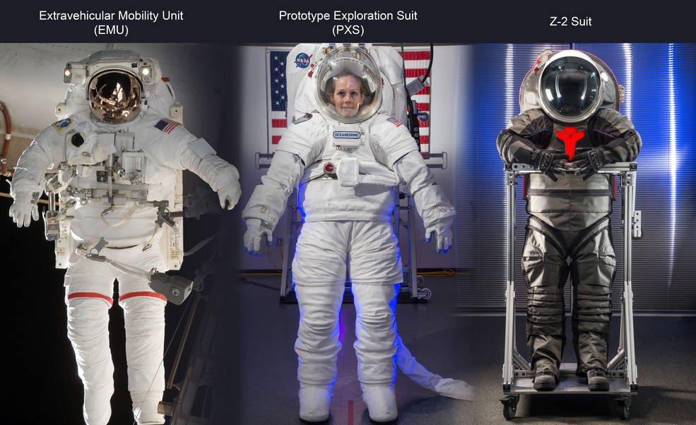 Von der Nasa entwickelte Raumanzüge der nächsten Generation.
