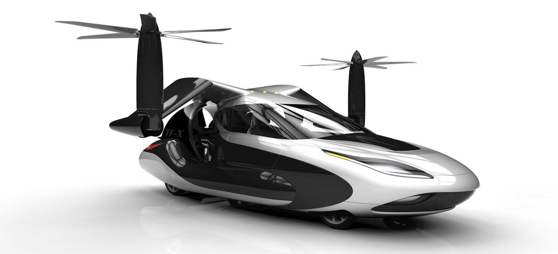 Vorbereitung auf den Flugmodus: Die Flügel klappen aus, anschließend steigt der TF-X wie ein Hubschrauber senkrecht in die Luft. Lange Start- und Landebahnen sind somit überflüssig.