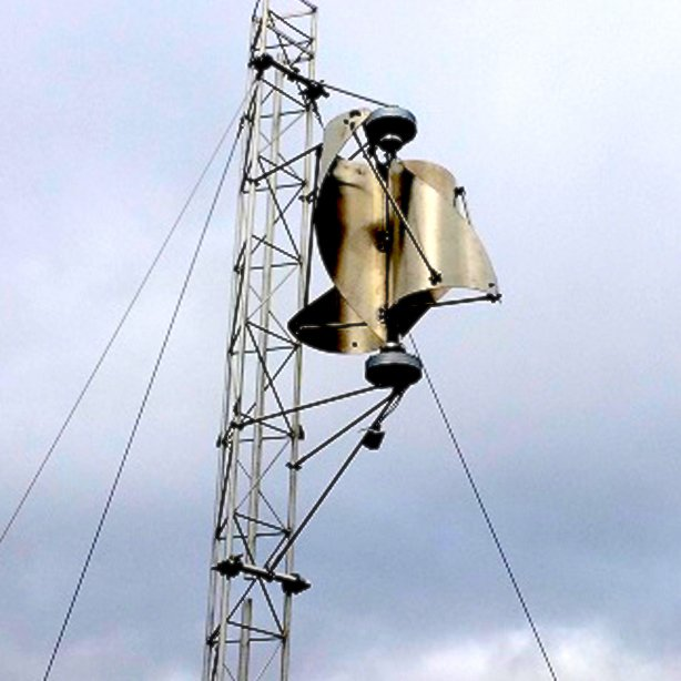 Die IceWind-Anlage kann auch am Mast angebracht werden.