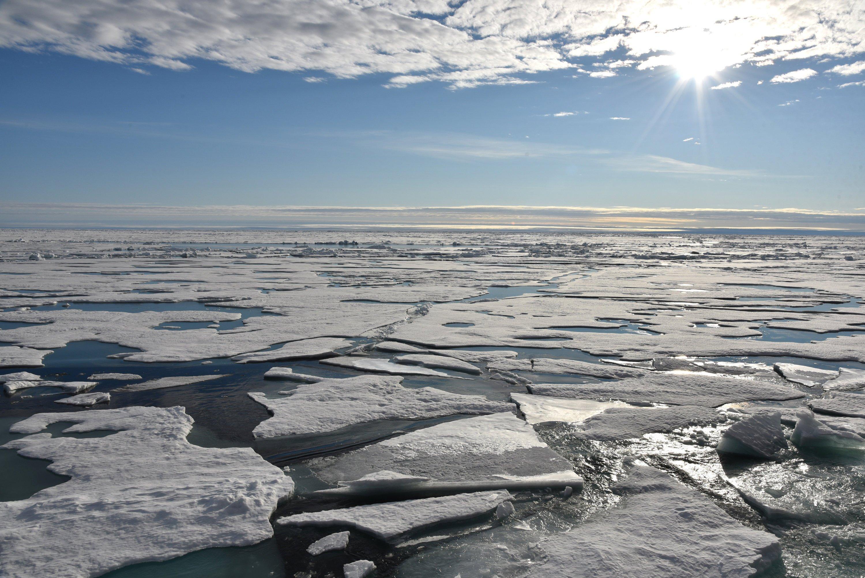 Sonnenschein in der Arktis im August 2015: Obwohl derzeit Polarnacht am Nordpol herrscht, droht spanische Warmluft die Temperaturen in der Arktis hochzutreiben.