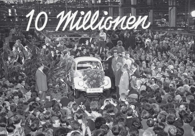 Der 10-millionste Käfer lief 1965 vom Band.