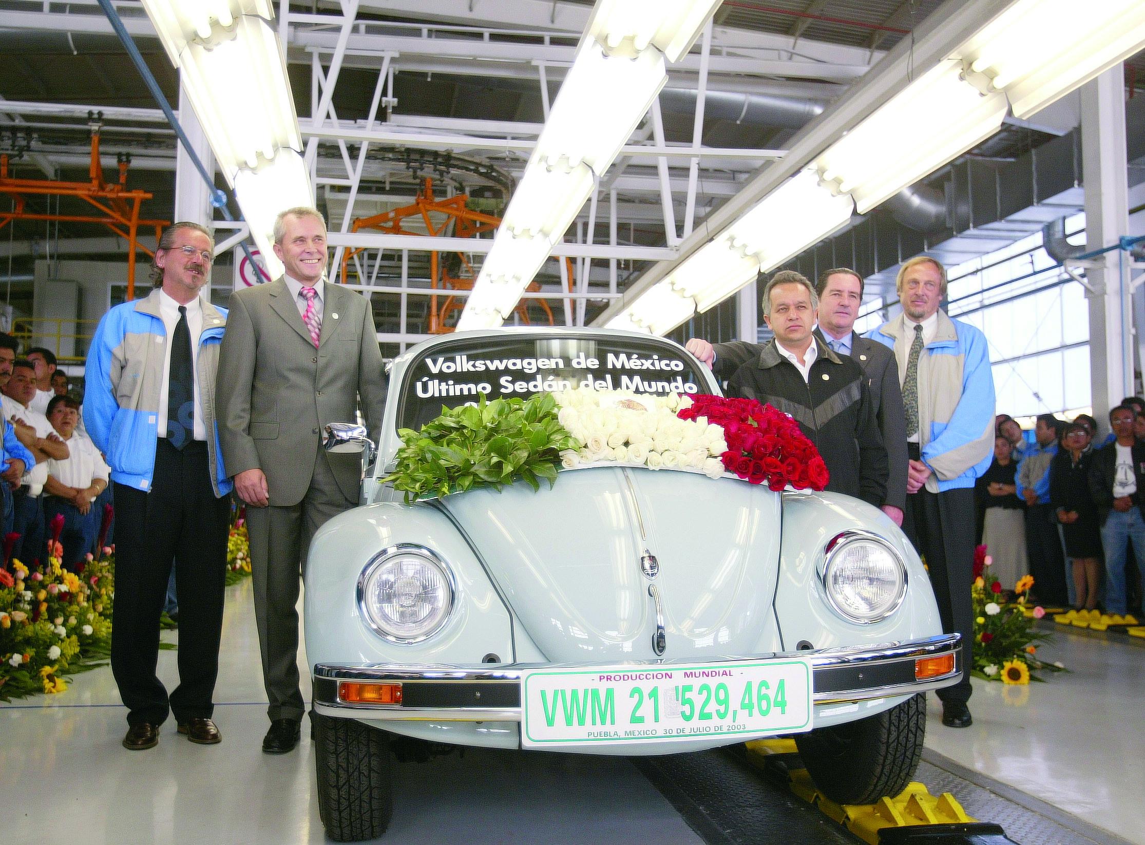 Der letzte Käfer wurde am 3. Juli 2003 im VW-Werk in Puebla in Mexiko produziert.