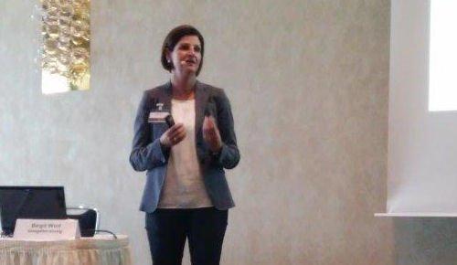 Birgit Wolf auf dem VDI nachrichten Recruiting Tag in Düsseldorf im Mai