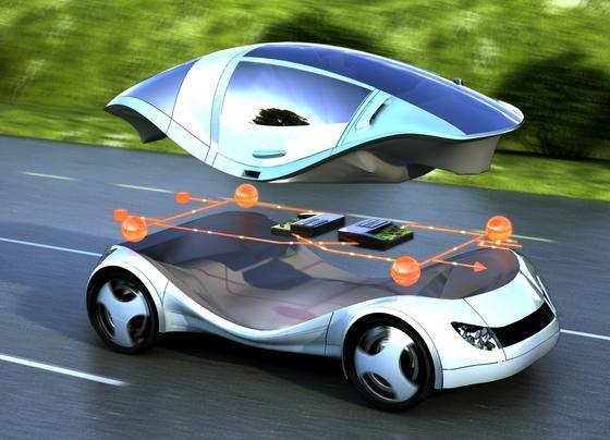 Zukunftsvision eines Elektroautos mit neuer Steuererungstechnik RACE: Ein zentraler Bordcomputer soll nach Vorstellung von Siemens künftig die Steuerung der Bordelektronik übernehmen.