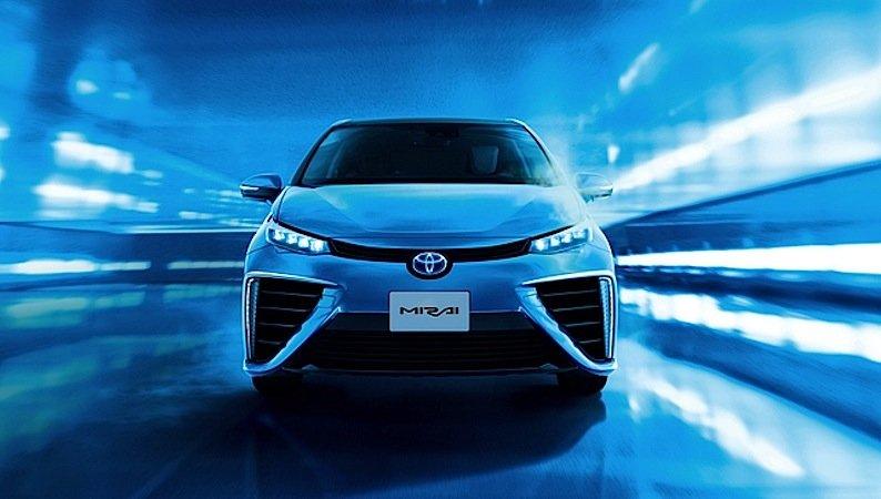 In Deutschland will Toyota sein Wasserstoffauto Mirai in diesem Jahr auf den Markt bringen.