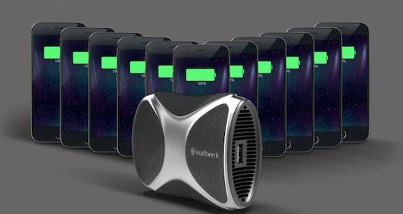 Eine Kraftwerk-Füllung liefert laut Hersteller 56 Wattstunden Strom – genug für elf iPhone-Ladungen.