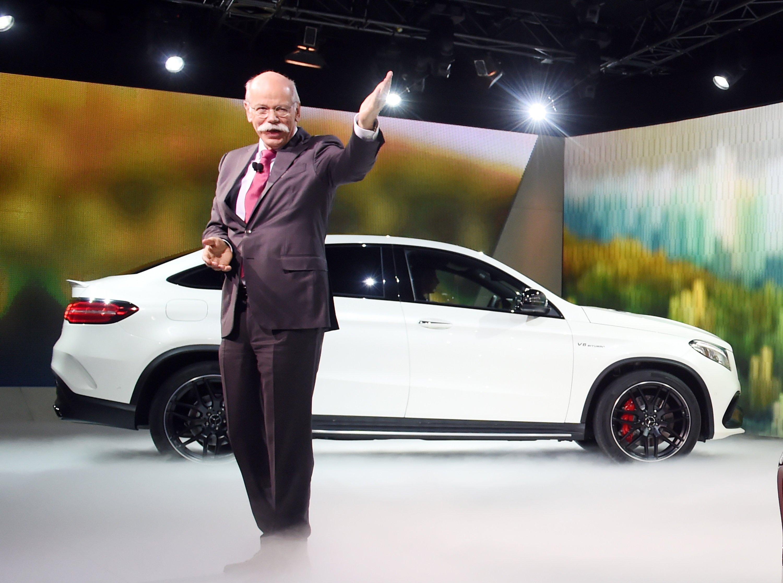 Daimler-Chef Dieter Zetsche präsentiert das neue GLE Coupé in Detroit. Die Detroit Auto Show ist die größte Automesse der USA.
