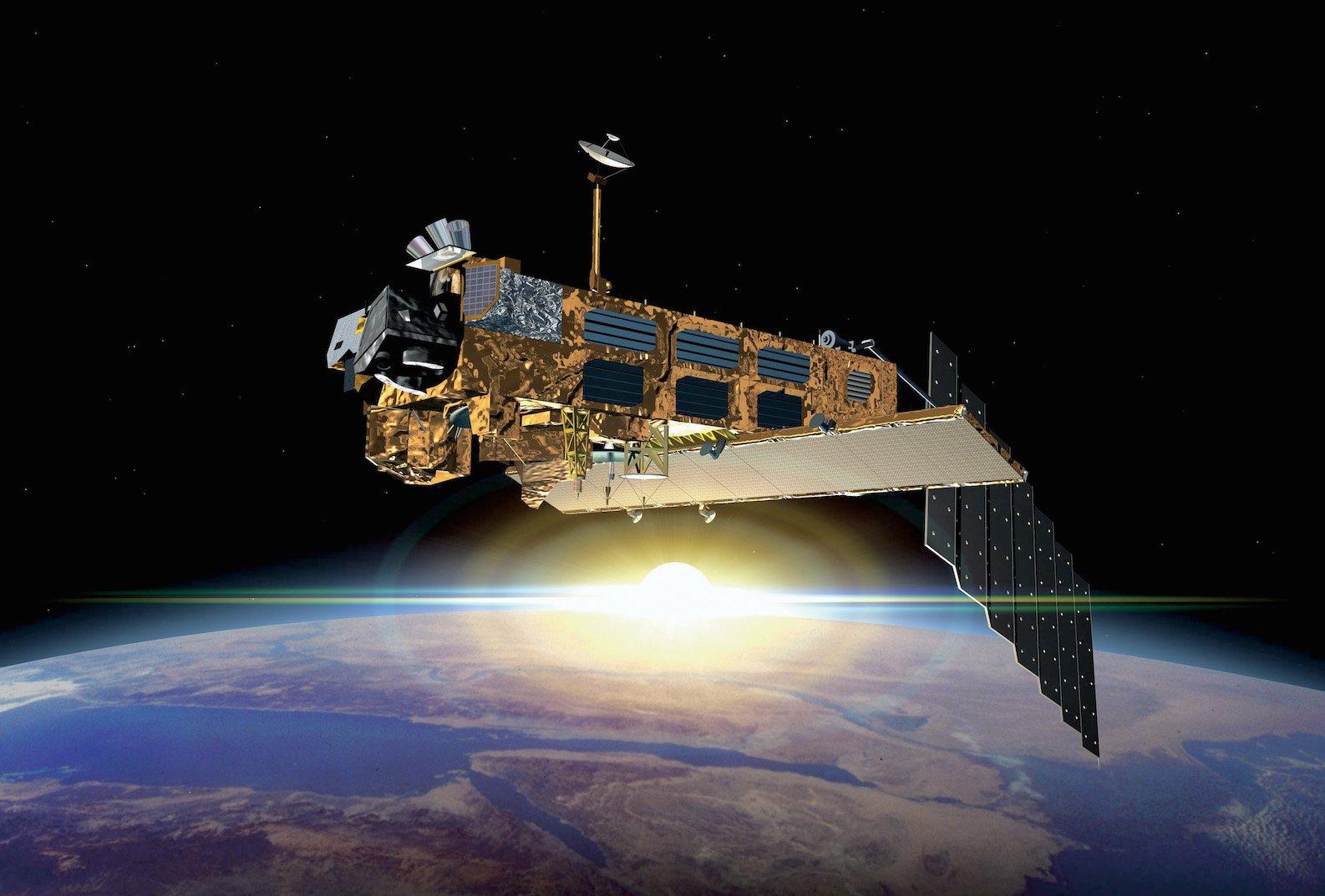 Der Erdbeobachtungssatellit Envisat ist Europas Klimawächter im All.