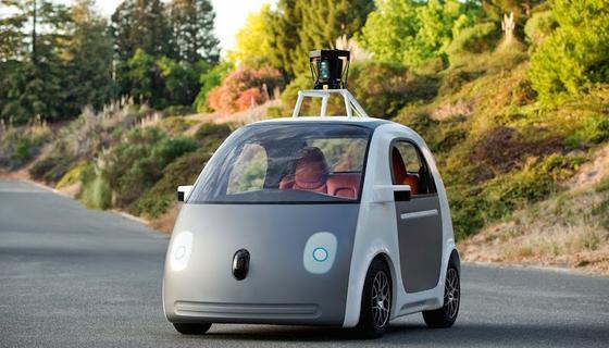 Googles selbstfahrendes Auto: Im Mai hatte der Internet-Konzern den ersten Prototypen vorgestellt. Jetzt sollen 150 Testfahrzeuge gebaut werden. Unter anderem mit der Technik von deutschen Zulieferern an Bord.