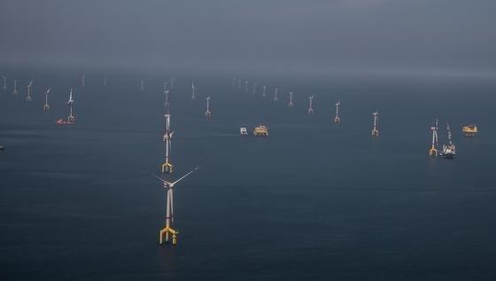 Vor allem die Anbindung ans Netz sorgte immer wieder für Probleme beim ersten deutschen Hochsee-Windpark BARD 1. Die Anlage befindet sichnordwestlich von Borkum.