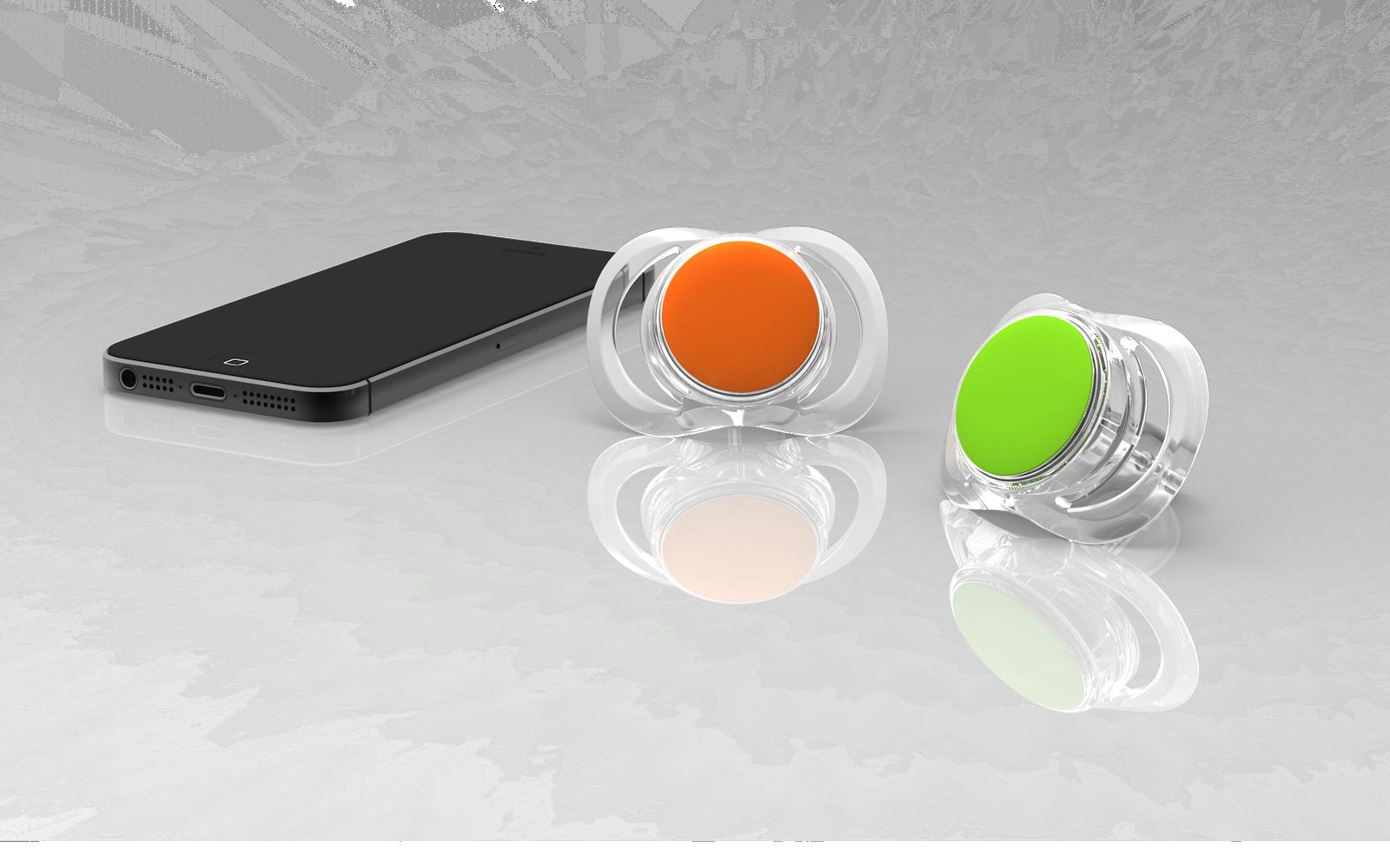 Und so sieht der smarte Schnuller Pacif-i von Blue Maestro aus. Damit er seine volle Kommunikationskraft entfalten kann, enthält er einen Bluetooth-Chip mit einer Akku-Laufzeit von einem Jahr.