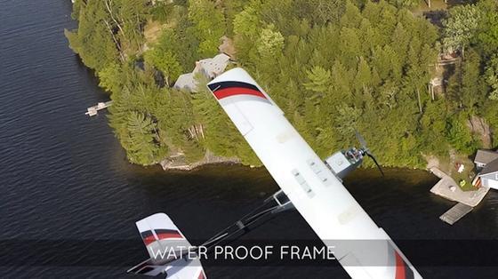 Die Drohne von PrecisonHawk kann Wasserproben entnehmen und ist in der Lage lange Distanzen autonom zurückzulegen und schlechtem Wetter zu trotzen.