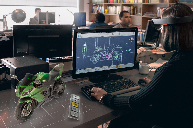 Nicht nur zum Spielen gedacht: Bei der Entwicklung der Computer-Brille HoloLens hatte Microsoft Anwendungen im professionellen Bereich im Visier.