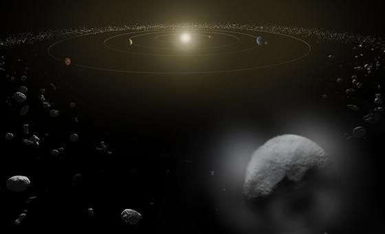 """Im All ist viel los. Aber nur selten nähern sich Asterodiden der Erde extrem. Heute aber wird """"2004 BL86"""" bis auf 1,2 Millionen Kilometer an unseren Planeten herankommen. Eine Gefahr geht aber von dem 700 Meter großen Gesteinsbrocken nicht aus."""