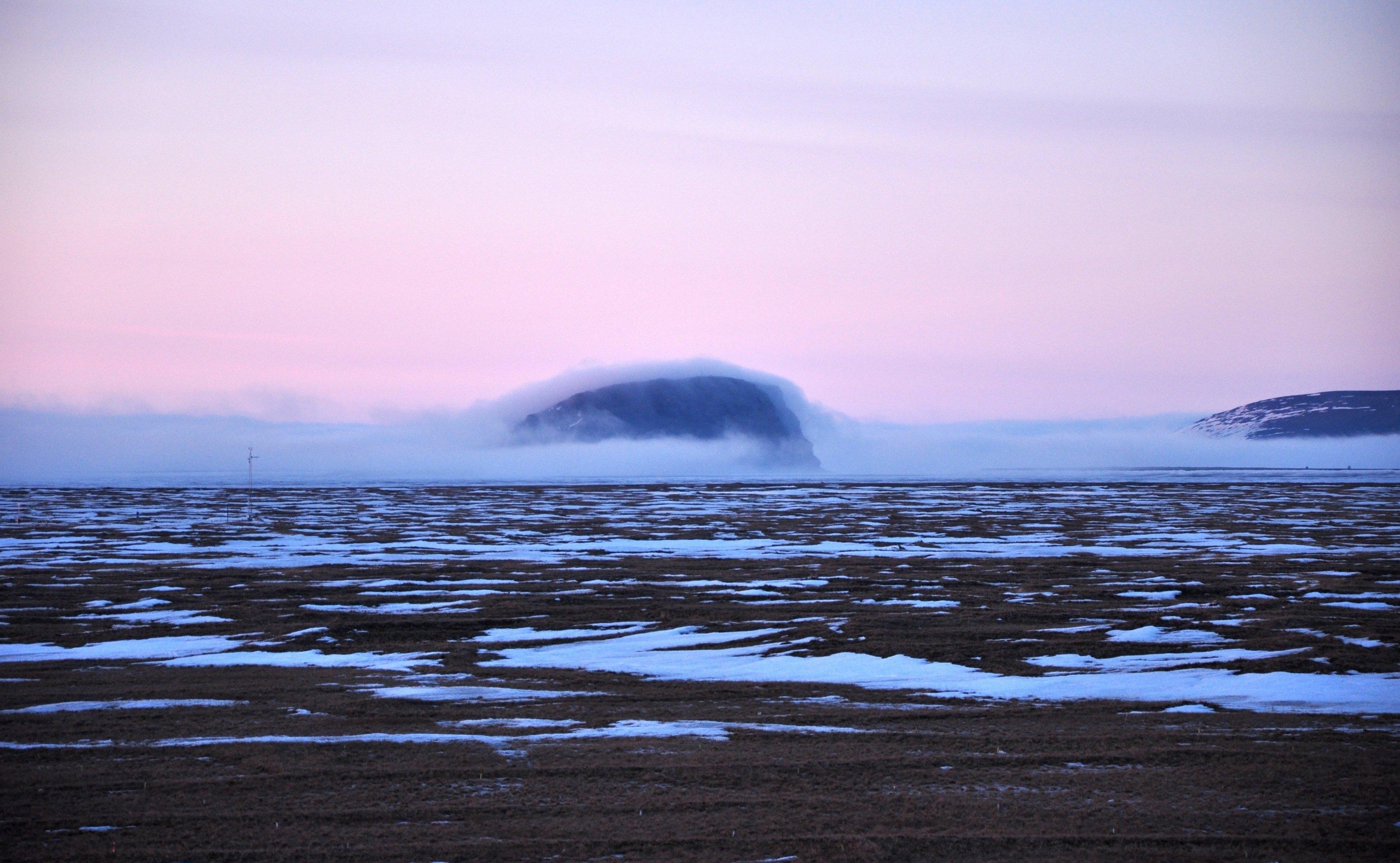 Sibirischer Winter: Blick auf den Berg Stolb.