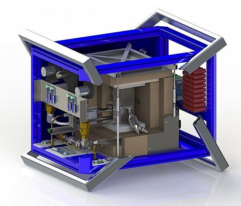 Der aktive Kern des Generators hat ein Volumen von nur einem Liter. Das bringt die Temperatur des Gehäuses auf ein sicheres Niveau.