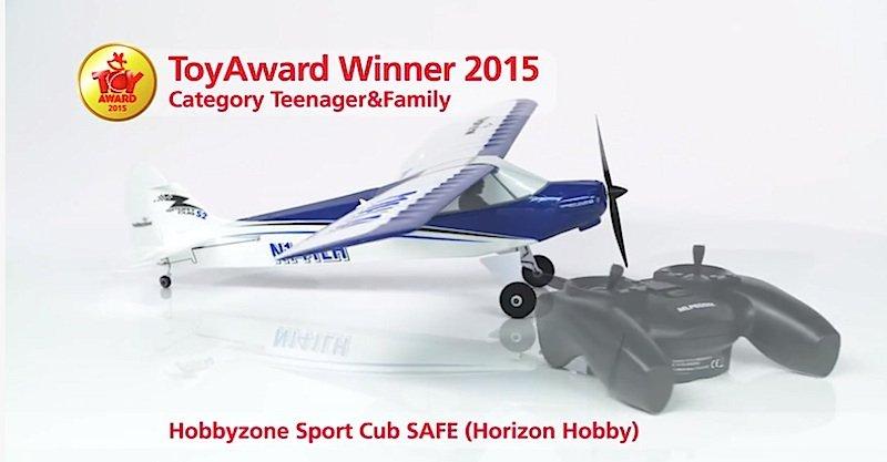 Das Sportflugzeug Hobbyzone Sport Cub SAFE fliegt im Safe-Modus fast von alleine.
