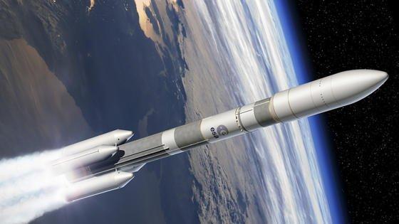 Künstlerische Darstellung der Ariane 6.