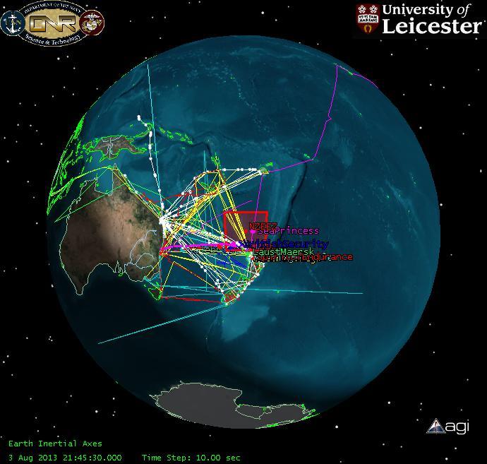 Die Wege von Schiffen lassen sich mit den Aufnahmen kommerzieller Satelliten sehr gut verfolgen. Für einen Test hat die UniversitätLeicester die Aufnahmen von55 Satelliten aus 19 Ländern zusammen geführt.