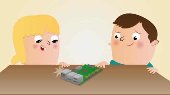 Cover Lehrmaterial für Einplatinencomputer Raspberry Pi:Der sehr einfach aufgebaute Rechner wurde von der britischenRaspberry Pi Foundationmit dem Ziel entwickelt, jungen Menschen den Erwerb von Programmier- undHardwarekenntnissezu erleichtern. Das erste Modell kam 2012 auf den Markt. Jetzt gibt es eine neue deutlich leistungsfähigere Version – für unter 40 Euro.