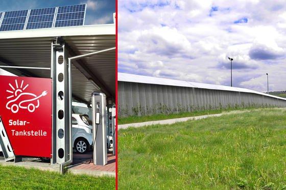 Solarstrom aus der Lärmschutzwand soll die Elektro-Mobilität voranbringen.