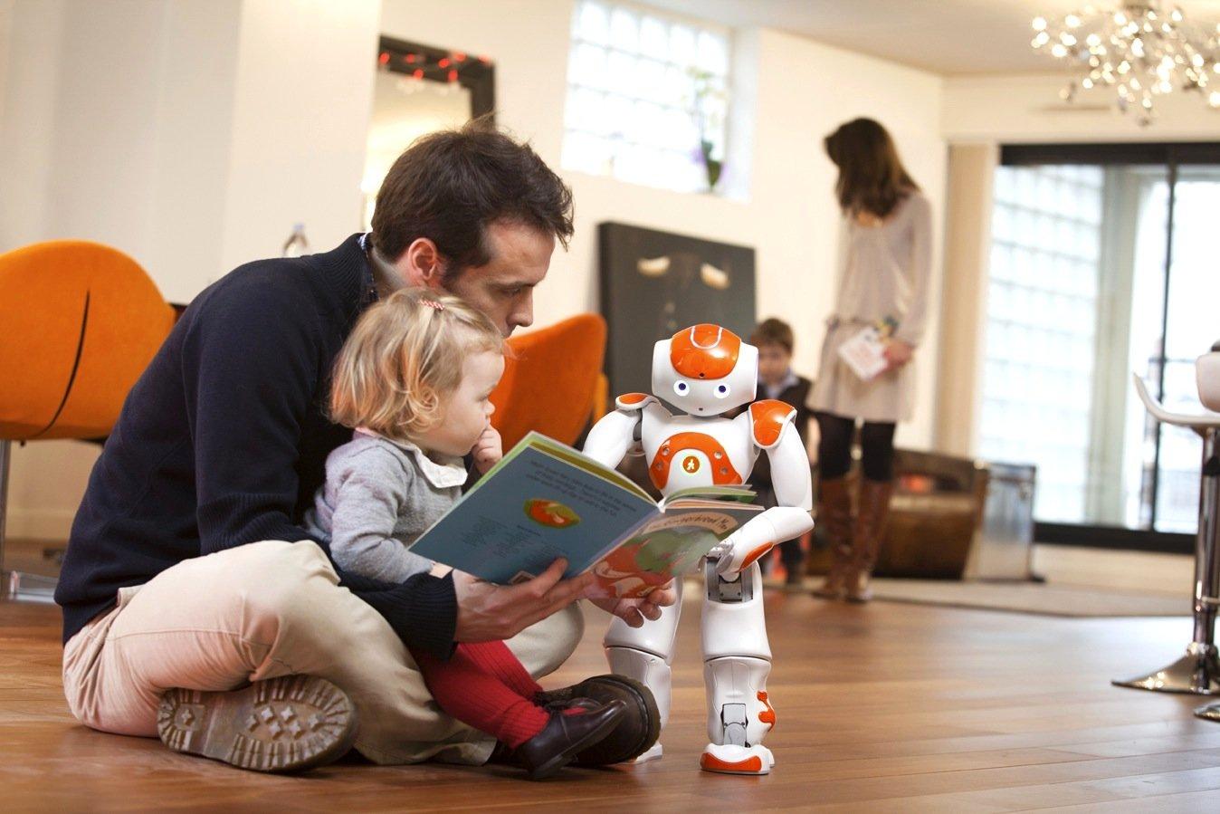 Vorlesen mit Papa: Der Roboter Nao als