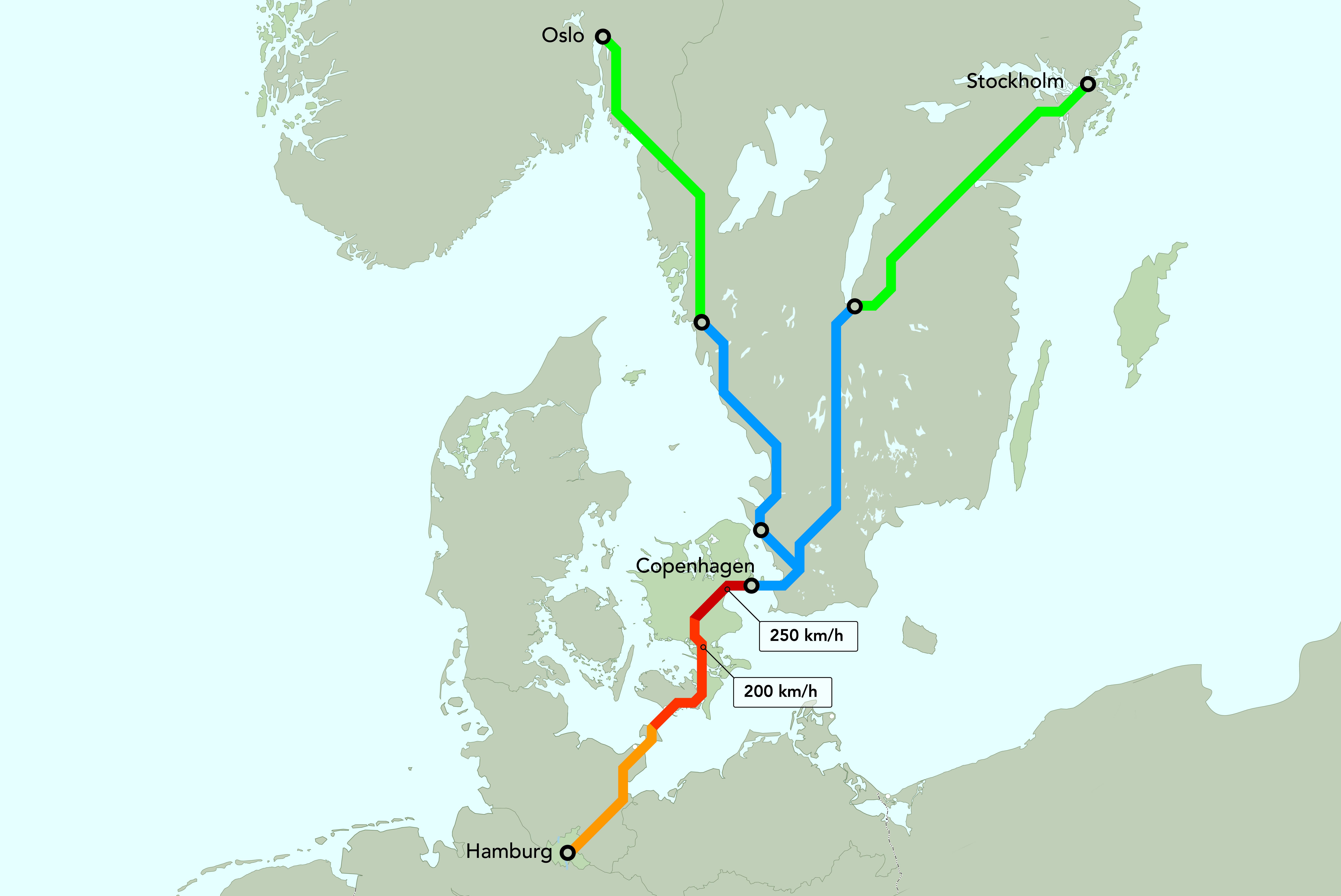 Der Tunnel durch die Ostsee soll die Bahnverbindungen zwischen Deutschland und Skandinavien beschleunigen. Allerdings soll die Bahnstrecke auf deutscher Strecke vorerst nur eingleisig bleiben.