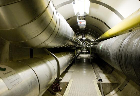 Fernwärme- und Gasleitungen in Basel: Die Stadtwerke haben das Gasnetz mit Sensoren ausgestattet, die im Fall eines Erdbebens die Gaszufuhr stoppen.