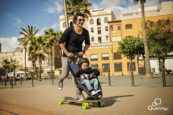 Und Action: Ein Ausflug mit dem Longboardstroller bringt Schwung ins Familienleben. Setzt aber ein gewisses Maß an Sportlichkeit voraus.