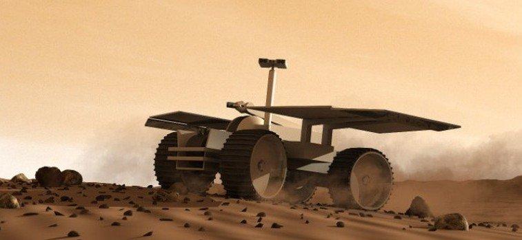 Mit einem Rover sollen sich die ersten Siedler auf dem Mars bewegen können.