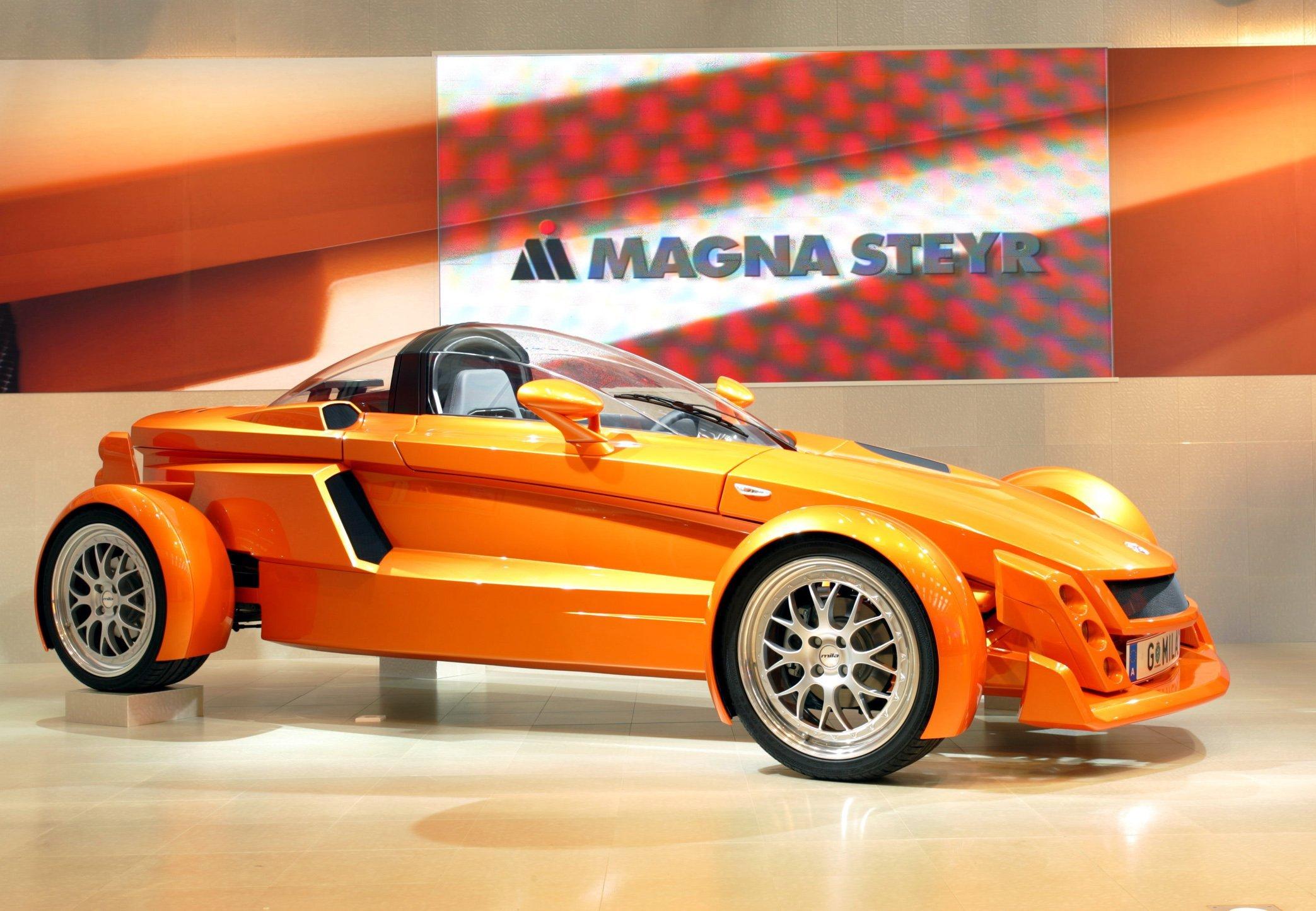 Apple-Mitarbeiter sollen sich mit dem österreichischen Auftragsproduzenten Magna Steyr getroffen haben. Auf dem Foto zu sehen ist die Sportwagenstudie Mila von Magna Steyr. Hier sorgt Erdgas für den Vortrieb.
