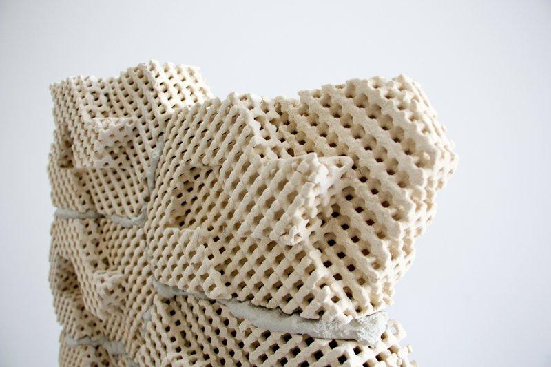 Die Cool Bricks aus dem 3D-Drucker lassen sich ineinander stecken. Für sicheren Halt wird aber zusätzlich Zement verwendet.