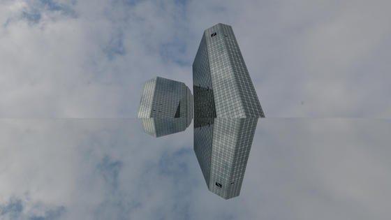 Die Zentrale der Deutschen Bank in Frankfurt am Main und ihr Spiegelbild: Das Geldinstitut hat bekannt gegeben, große Teile seiner IT an Hewlett-Packard zu übertragen. Ein Milliarden-Deal. Die Laufzeit des Vertrages wurde mit zehn Jahren angegeben.
