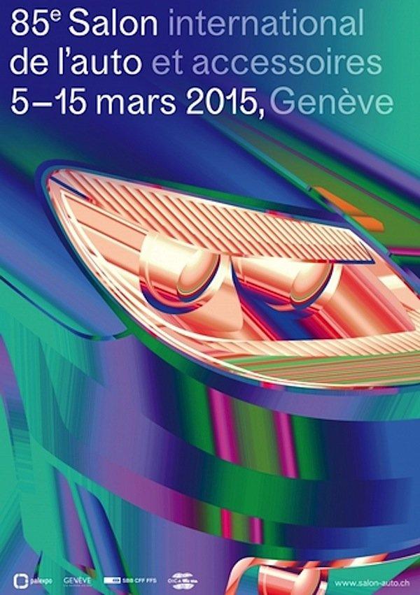 Das Plakat zum 85. Genfer Autosalon.