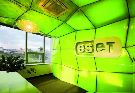 Empfang ESET-Hauptquartier in Bratislava:Derweltweite Anbieter von IT-Sicherheitslösungen für Unternehmen und Privatanwender hat eine Schadsoftware entdeckt, die im syrischen Bürgerkrieg eingesetzt wird.