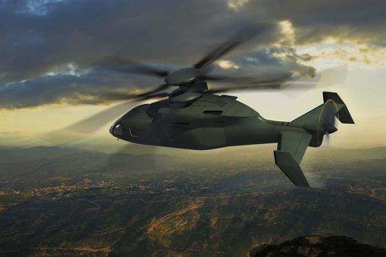Künstlerische Darstellung desSB-1 Defiant: ein Gemeinschaftsprojekt von Sikorsky und Boeing. Jetzt sollen für die US Army, die ihre Helikopterflotte modernisieren will, Prototypen gebaut werden.