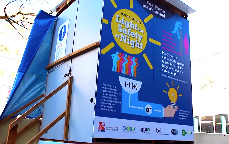 Auf dem Campus der britischen Universität in Bristol steht derzeit eine Toilette, die Strom aus Urin erzeugt. Besucher können dort die Brennstoffzellen-Technik kennenlernen.