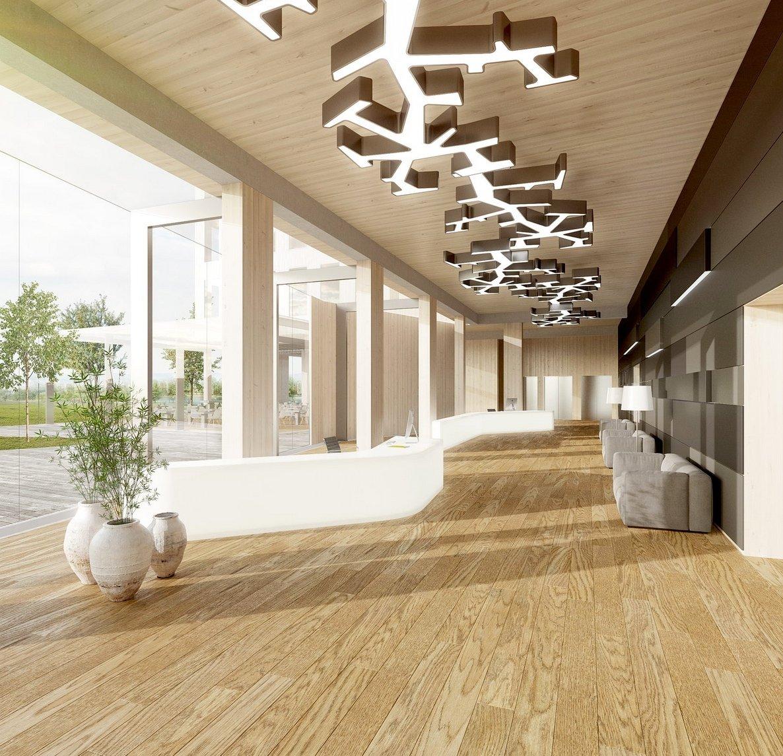 Großzügigen Außenterrasse im künftig höchsten Holzhochhaus der Welt: Es wird ab Herbst 2015 in Wien gebaut.