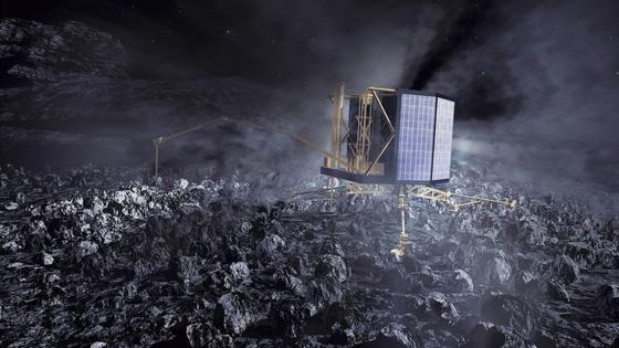 Am 12. November 2014 setzte das Landegerät Philae auf dem Kometen Churyumov-Gerasimenko auf. Die erste Landung auf einem Kometen hat das Ziel, mehr über die Entstehung unseres Sonnensystems zu erfahren.
