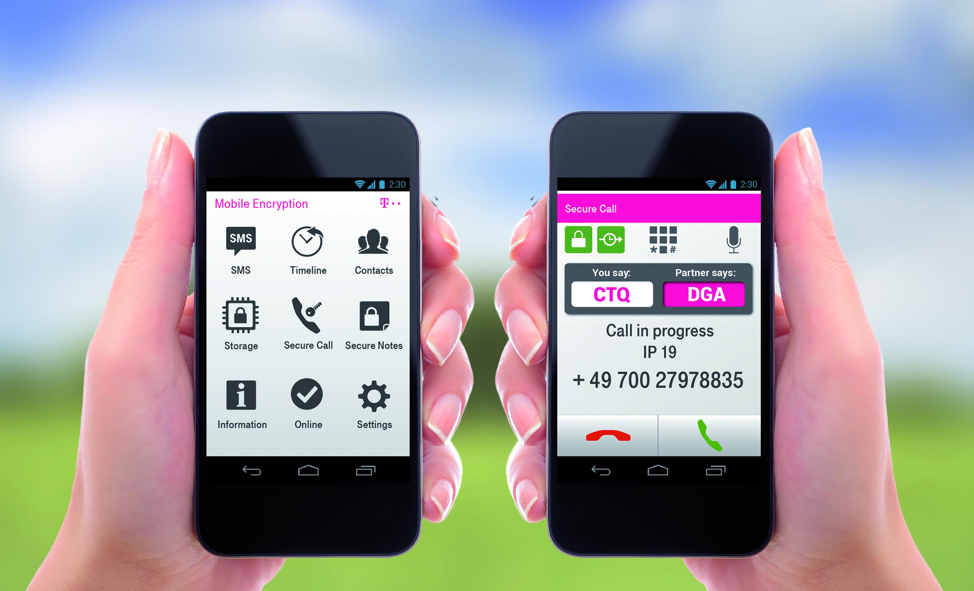 Die Mobile Encryption App der Telekom soll in jedem Telefonnetz funktionieren und sogar sichere Telefonkonferenzen zu dritt ermöglichen.