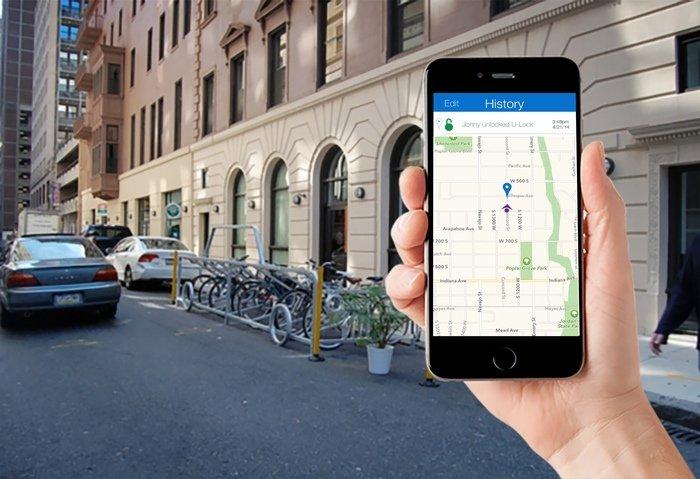 Dank GPS-Tracking kann der Besitzer des smarten Bügelschlosses sein abgestelltes Fahrrad immer wiederfinden.