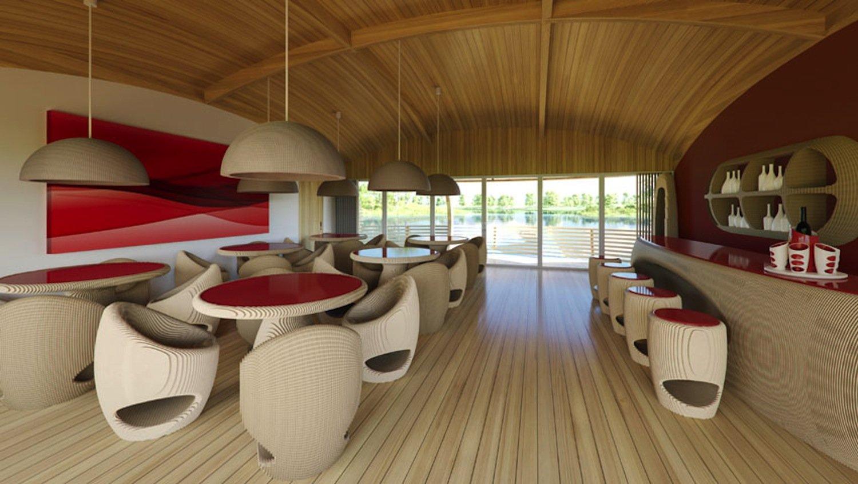 Das Hausboot bietet mit 100 Quadratmetern Wohnfläche genügend Platz für eine Familie. Es kann aber auch zum Restaurant mit einer Kapazität von 40 Personen werden.