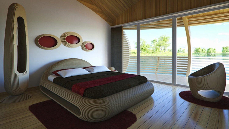 Der italienische Architekt Giancarlo Zema hat auch die Möbel im Wassernest entworfen. Sie sind ebenfalls recycelbar.