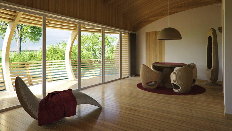 Die zukünftigen Bewohner können zwischen verschiedenen Gestaltungsvarianten wählen. Die Wände lassen sich dann beispielsweise so positionieren, dass ein Schlafzimmer und ein großzügiger Wohnbereich entstehen.