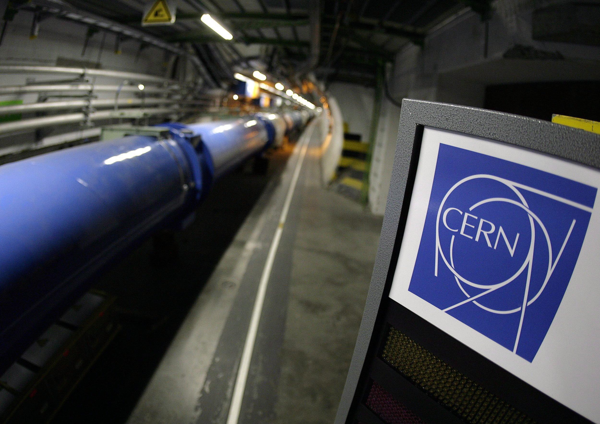 Der Teilchenbeschleuniger Large Hadron Collider (LHC) im Europäischen Kernforschungszentrum Cern bei Genf.