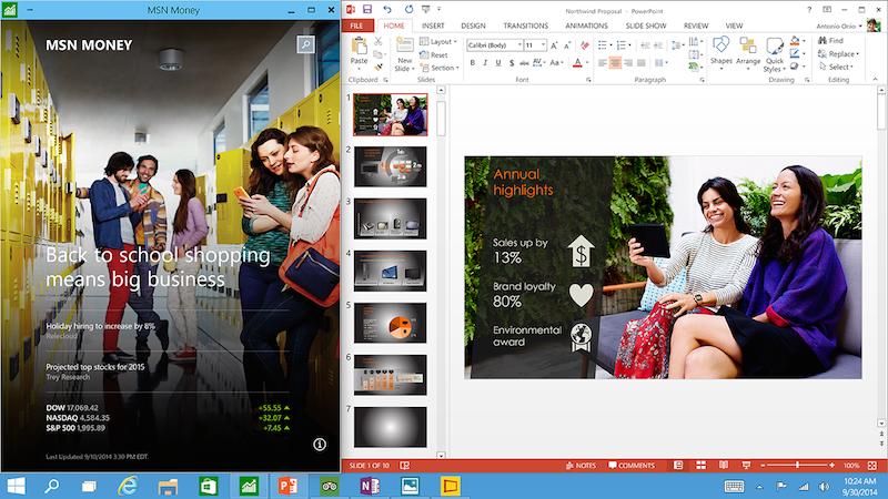 Im Oktober 2014 präsentierte Microsoft Windows 10 bereits in groben Zügen.