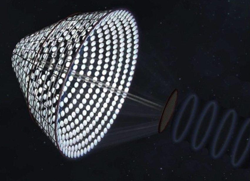 Von der NASA entwickelter Solarsatellit SPS Alpha, der einer Machbarkeitsstudie unterzogen wird.