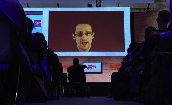 Edward Snowden war am Mittwoch prominenter Gast der CeBIT und den Global Conferences zugeschaltet.