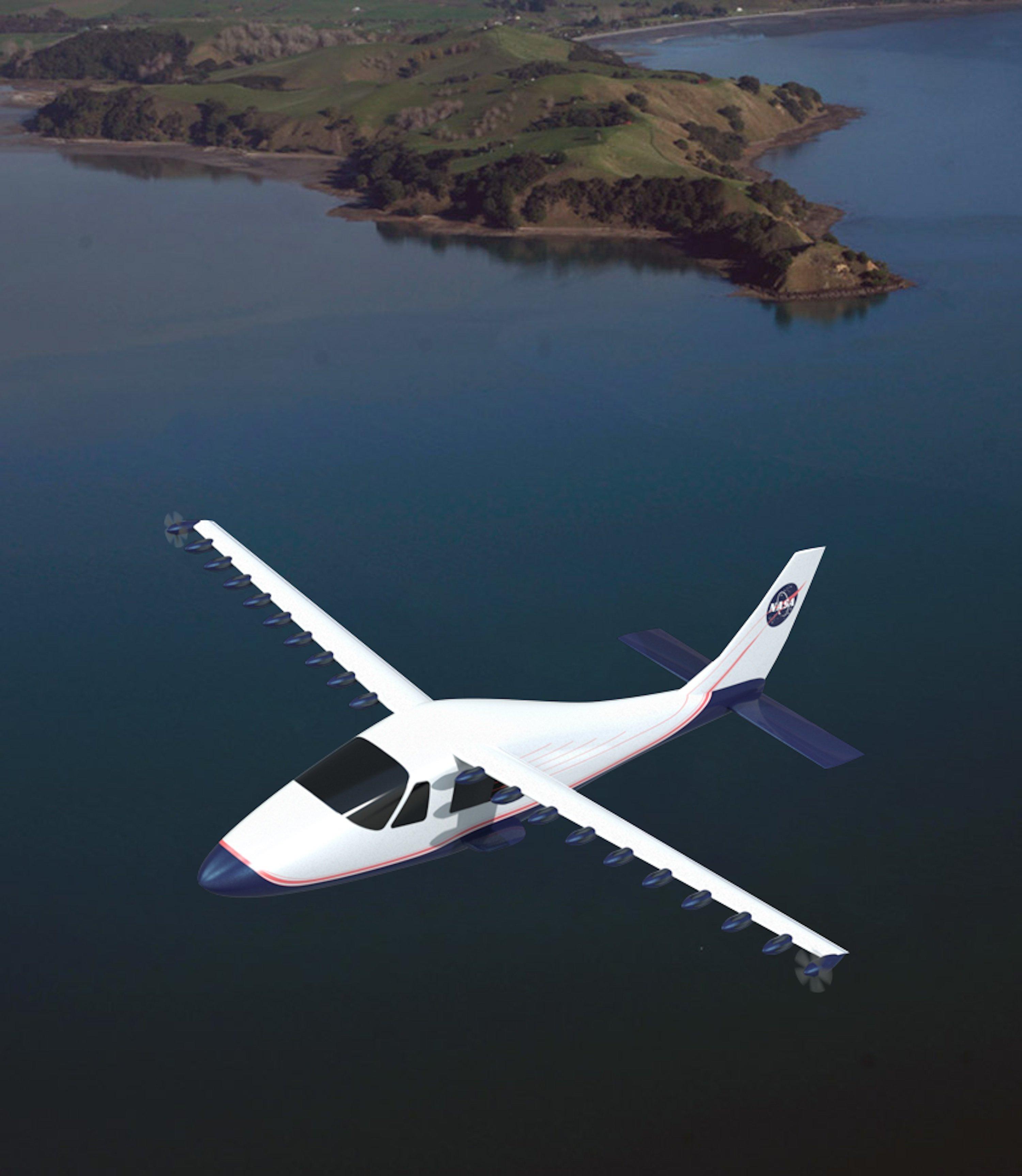 In Zukunft möchte die NASA den Spezialflügel mit Flugzeugen testen. Trotz der 18 Motoren ist er im Vergleich zu klassischen Flügeln um zwei Drittel kleiner.